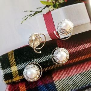 ANTHROPOLOGIE Vintage Pearl  Hair Spinners